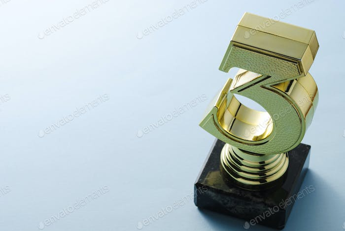 Number three gold trophy for a runner up