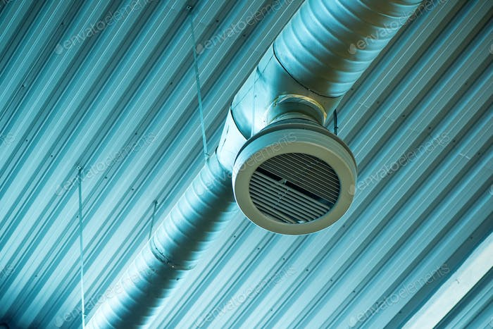 Industrial ventilation system pipes