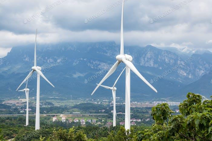 Windkraftanlagen in Lushan