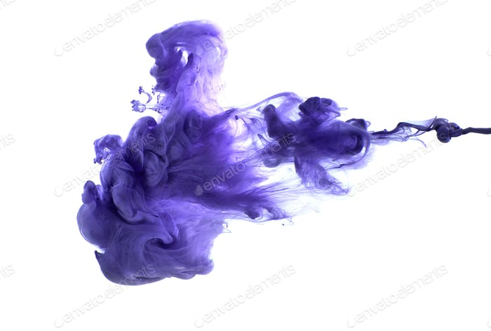 Purple acrylic paint in water.