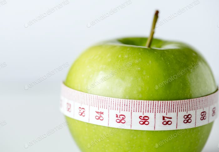 Closeup of healthy diet and weight loss concept