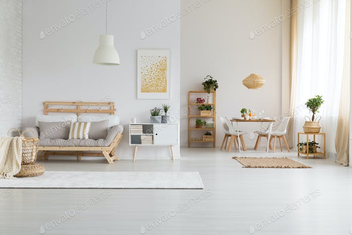 White open space