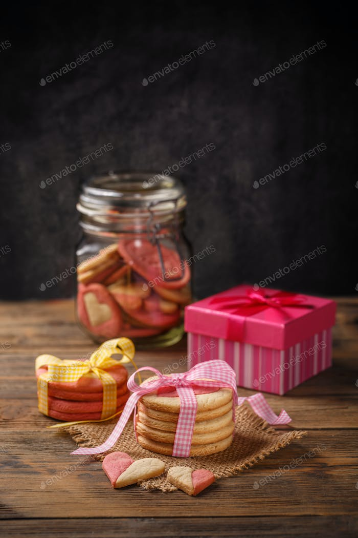 Stack of gift biscuits