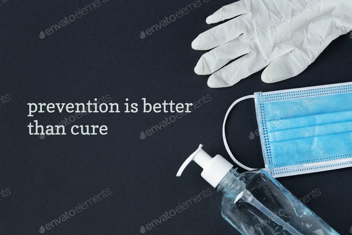 Prevention is better than cure coronavirus awareness message