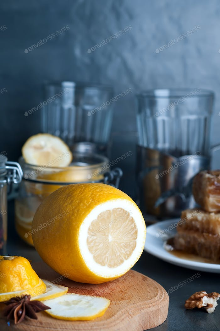 Honey, lemon and ginger tonic