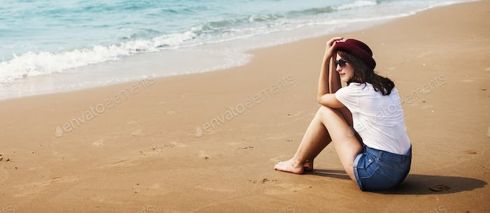 Beach Relaxation Beach Break Summer Girl Rest Concept