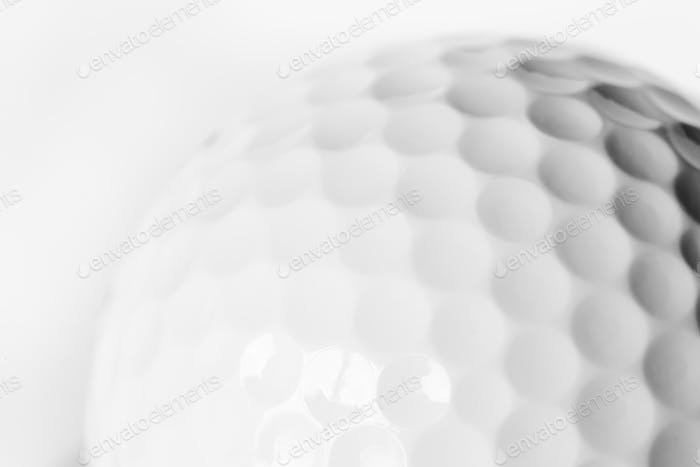 Closeup of golf ball
