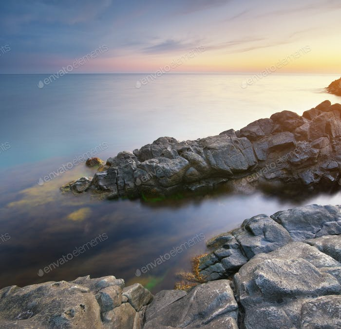 Schöne Meereslandschaft Natur.