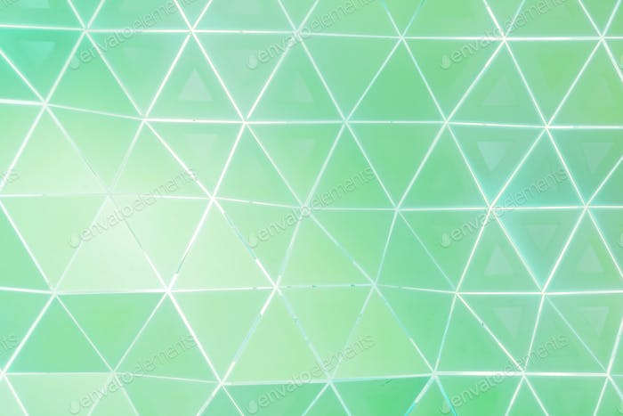 Green and white triangle patterned background vector