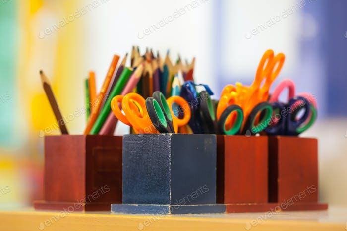College-Ausstattung in einem Klassenzimmer