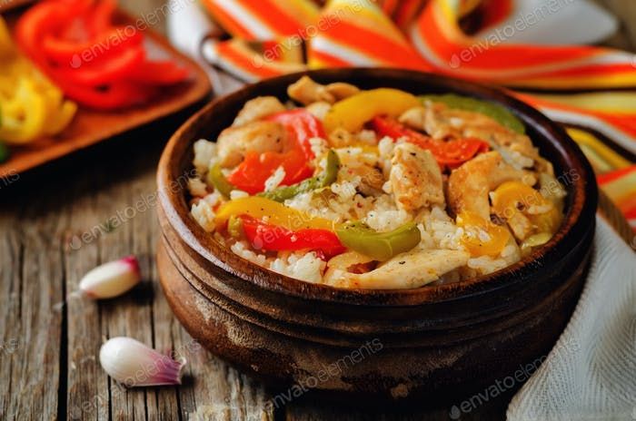 Chicken Bell pepper rice