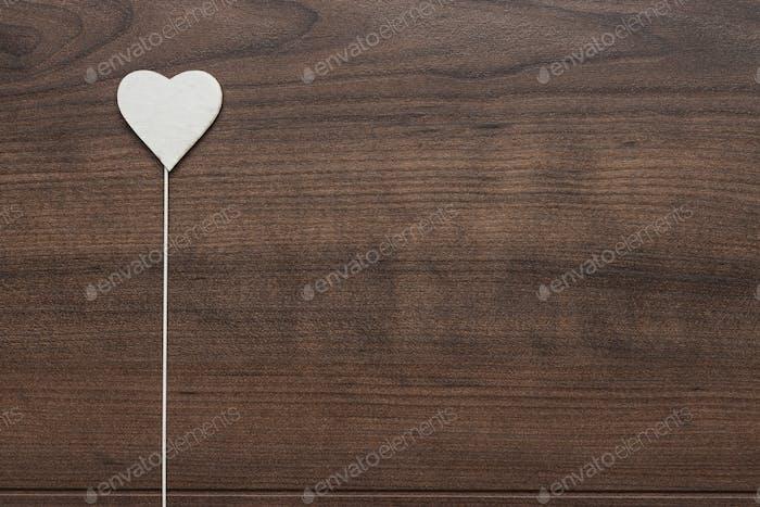 White Heart Shape On Stick