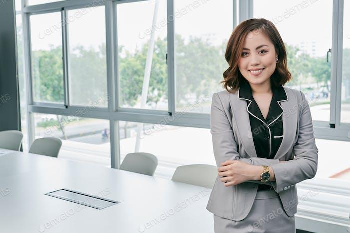 Portrait of confident Asian businesswoman