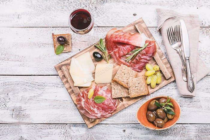 Typisch italienisches Antipasti