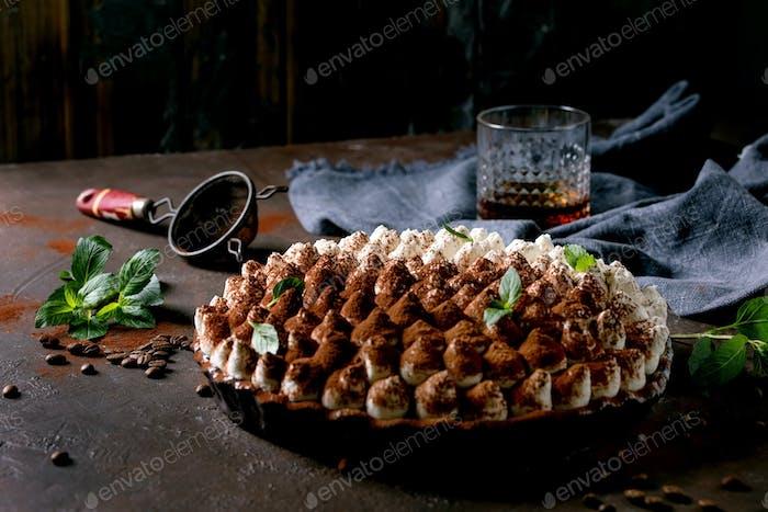 Homemade gluten free tiramisu traditional italian dessert