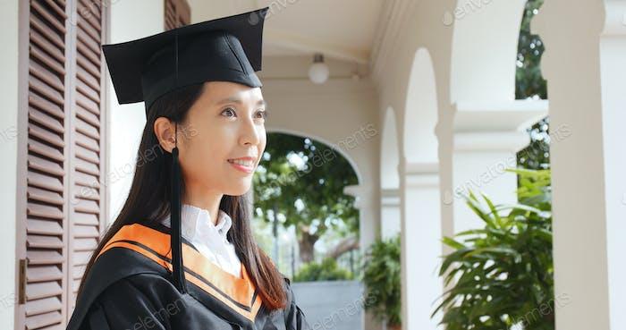 Woman graduation in campus