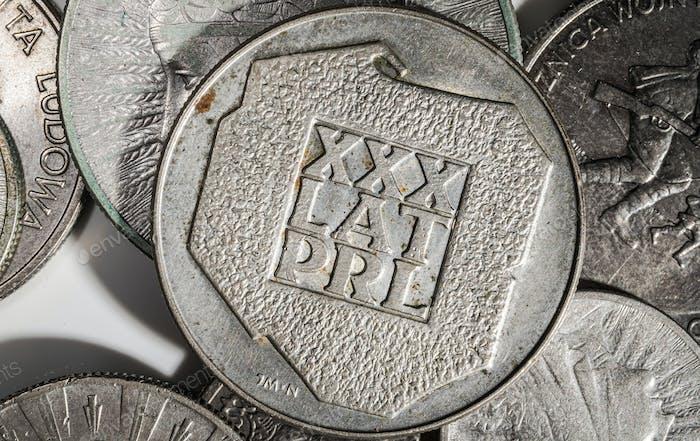Polnische Volksrepublik Historische Polnische Münze