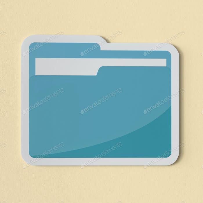 Icon of a blue folder
