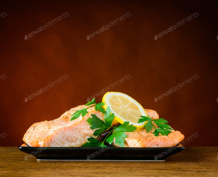Close-up of Cooked Fish Fillet