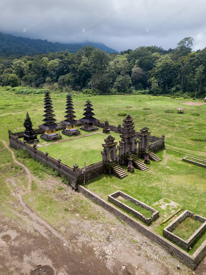 Balinese temple in the mountains