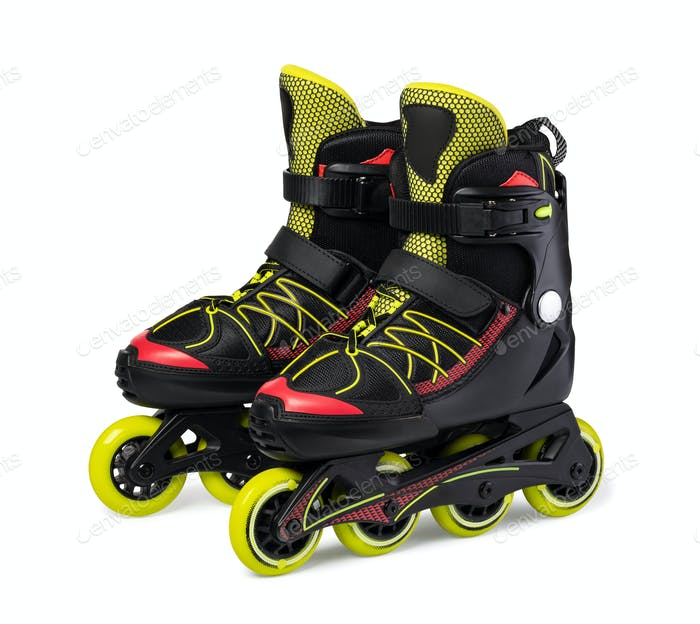 Inline skates. Isolated over white