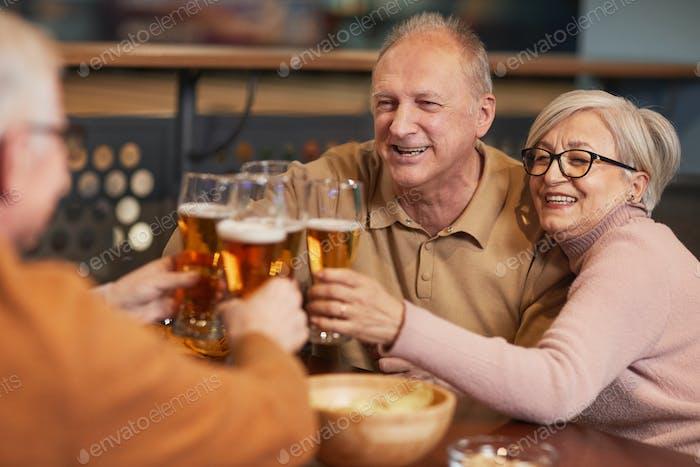 Senior People Enjoying Beer