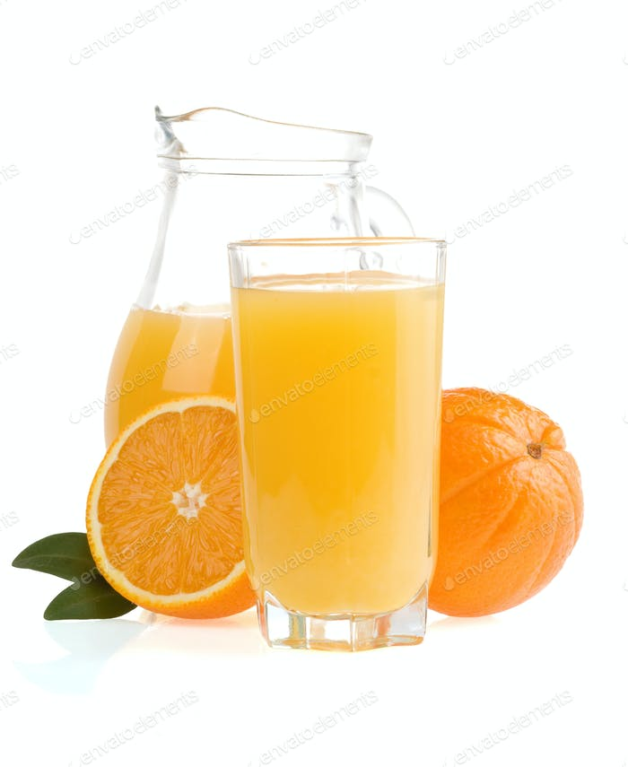 orange fruit and juice