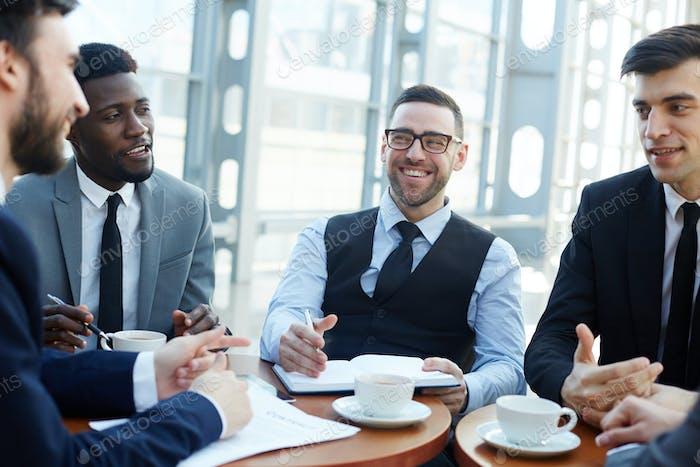 Bankers at meeting