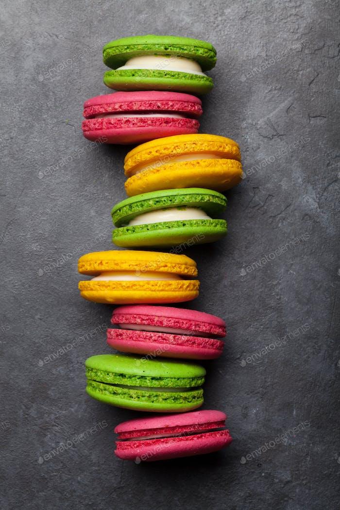 Cake macaron or macaroon sweets