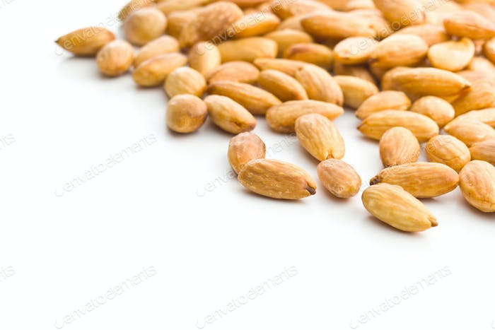 Salty roasted almonds.