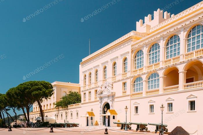Monte-Carlo, Monaco. Royal palace, residence of Prince of Monaco