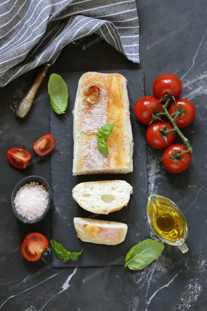 Homemade Italian Ciabatta Bread