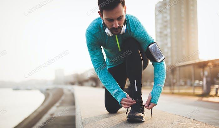 Joggen und Laufen sind Fitnessreationen