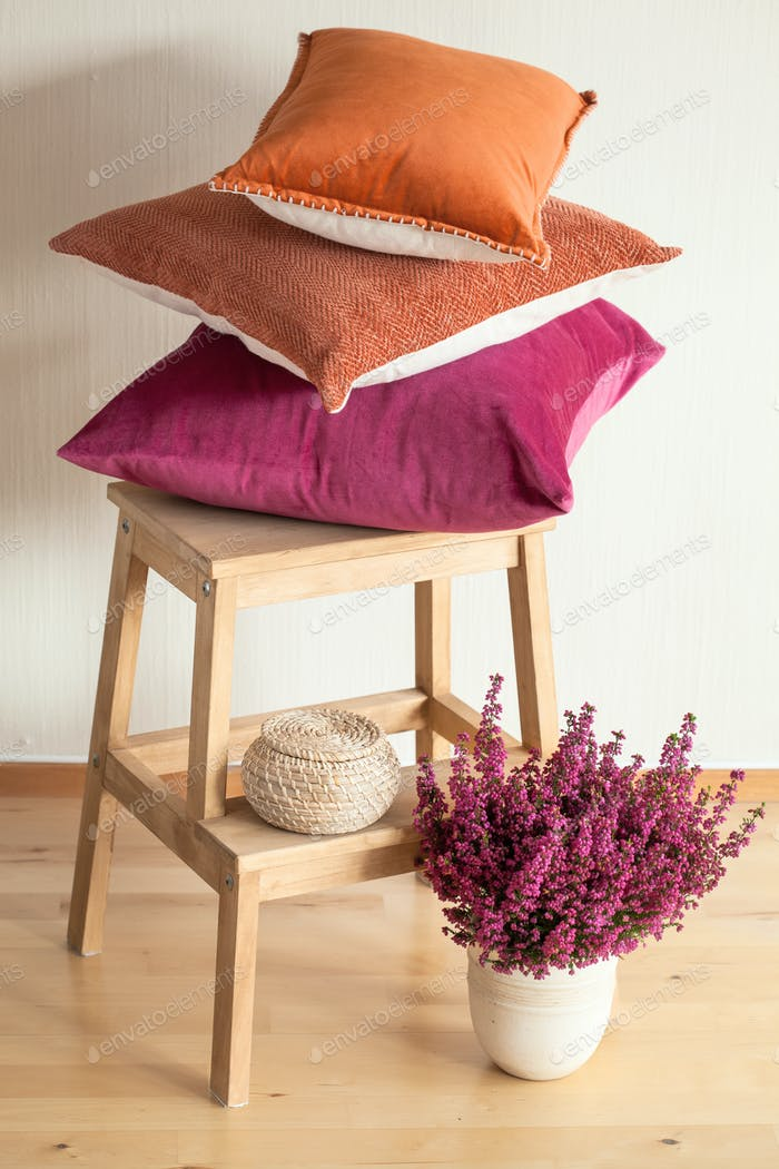 cojines de colores tirar acogedor Página de inicio otoño humor flor