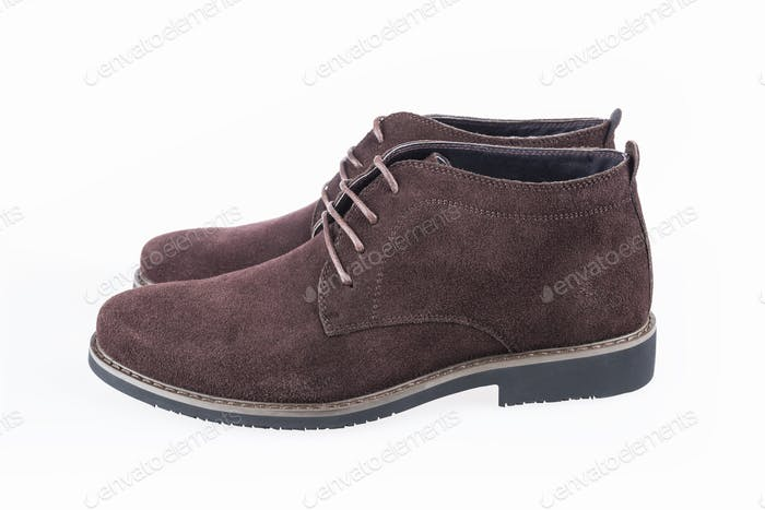 men leisure leather shoes