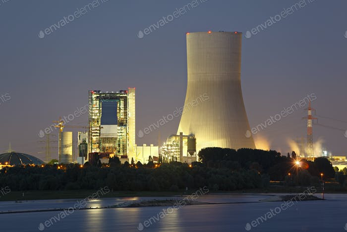 Kraftwerksbaustelle