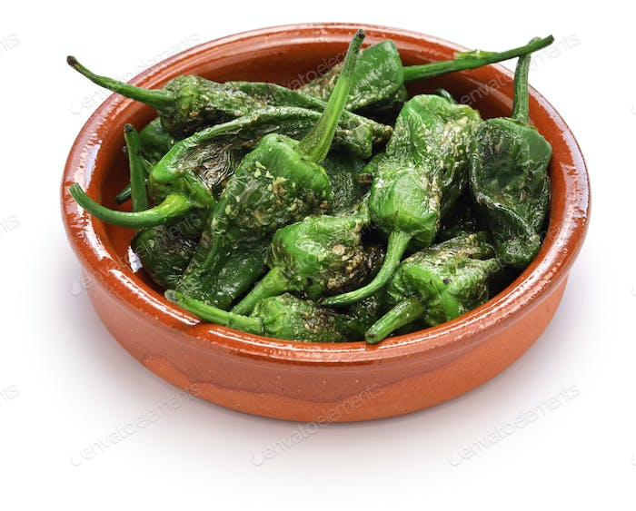 fried padron peppers, spanish food
