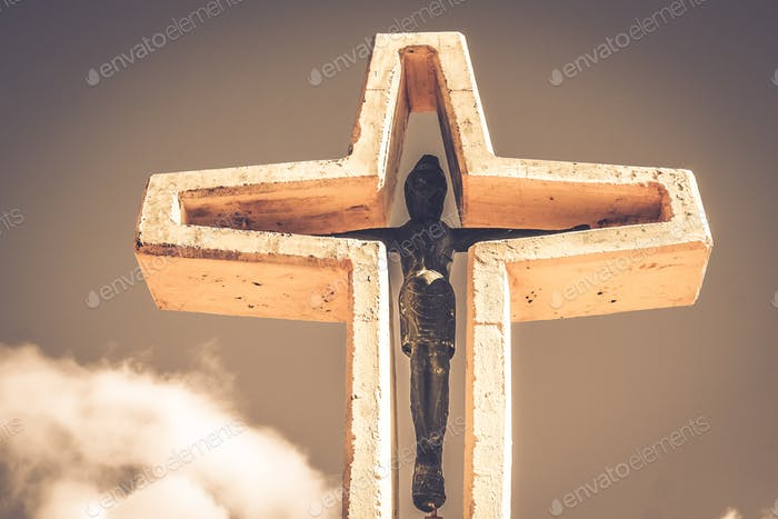 Cross in the argentinian Andes