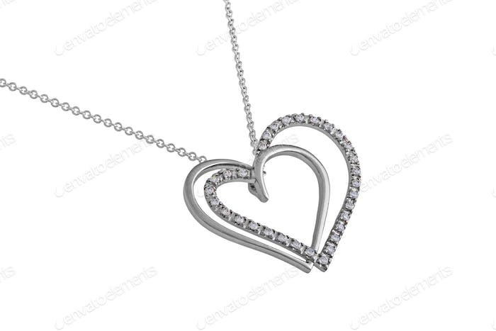 Silver Hearts Pendant, Necklace