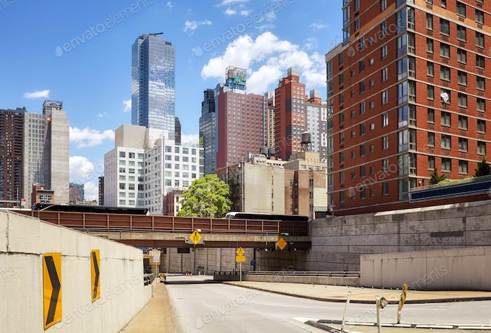 New York road infrastructure and architecture, USA.