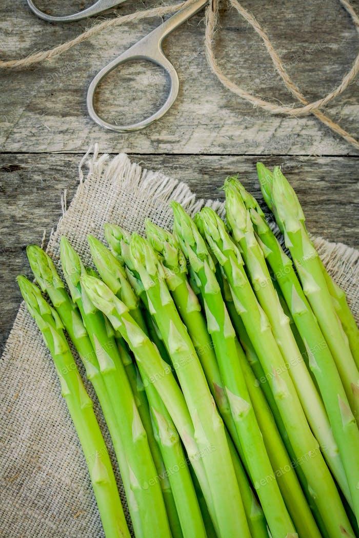 ripe organic asparagus