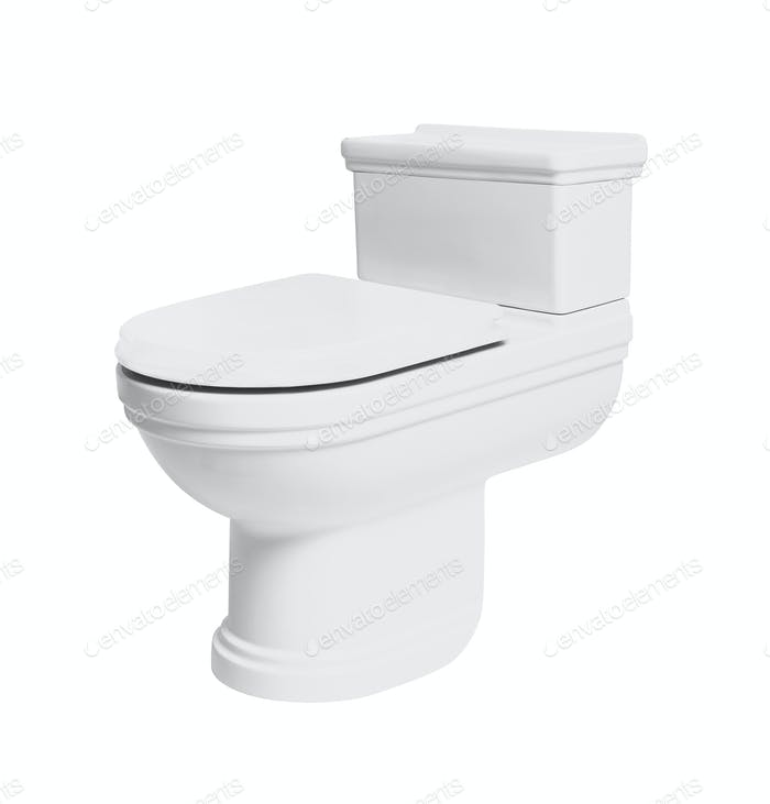 toilet bowl isolated on white