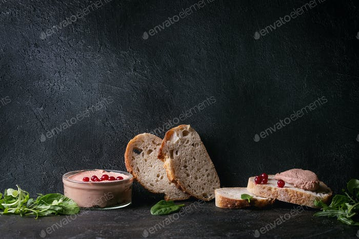 Liver paste with bread