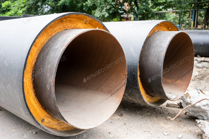 Insulated water pipes, underground sewerage infrastructure renovation