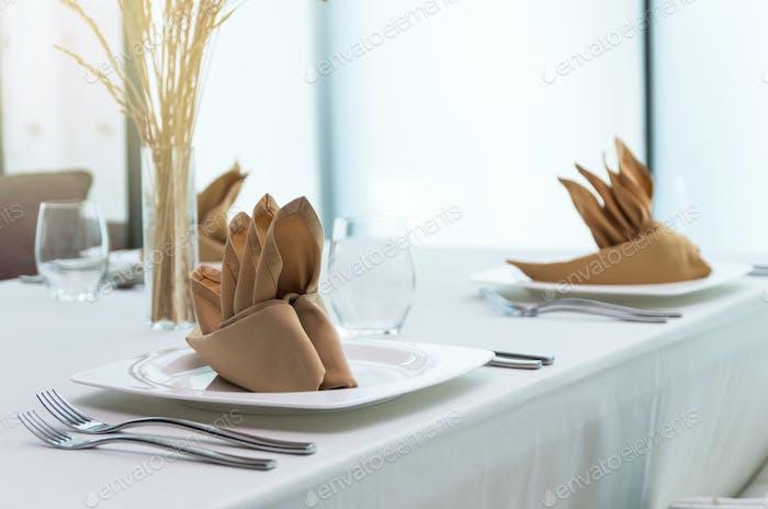 Luxury restaurant set