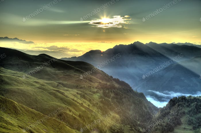 Beautiful Mountain Sunrise