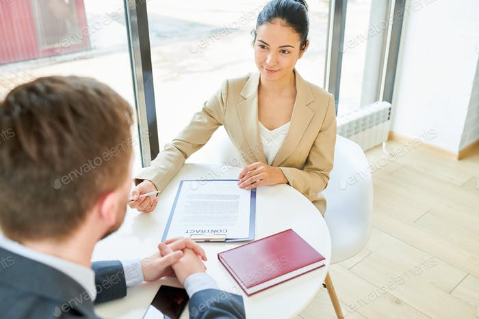 Female Business Manager Meeting Client