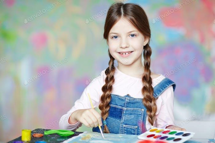Inspired schoolgirl