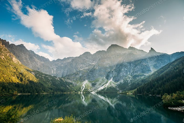 Tatra National Park, Poland. Famous Mountains Lake Morskie Oko O
