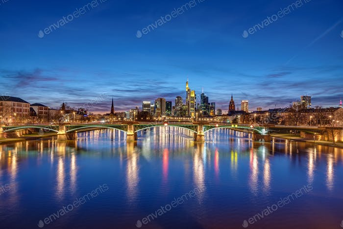 The skyline of Frankfurt